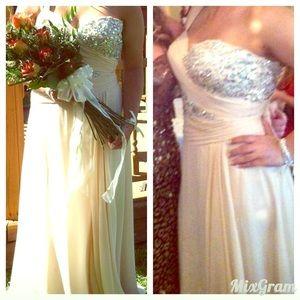 Cream Prom Dress